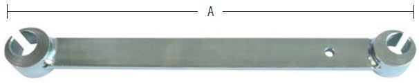 Hængselsretter ø14/18 mm i stål og elforzinket blå