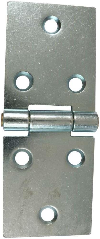 Bladhængsel 25x72 mm med skruer med skarpe hjørner og elforzinket blå