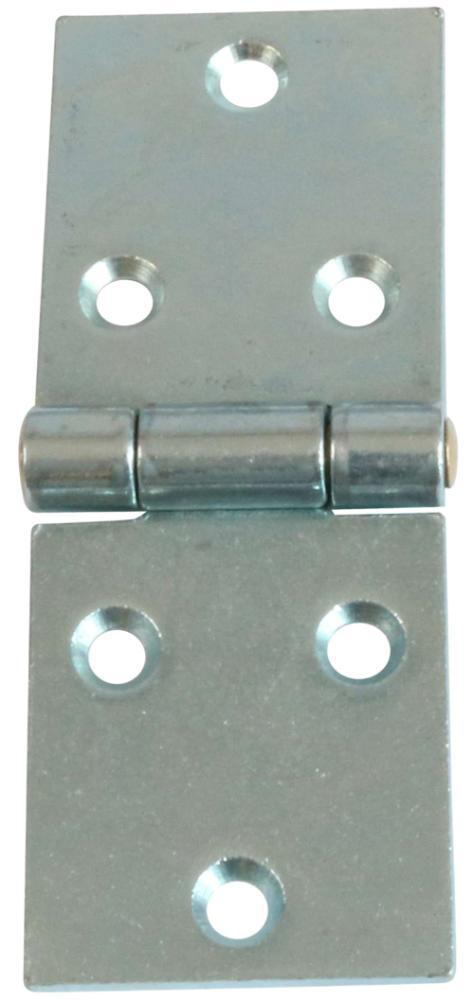 Bladhængsel 38x98 mm 2 stk. med skruer med skarpe hjørner og elforzinket blå