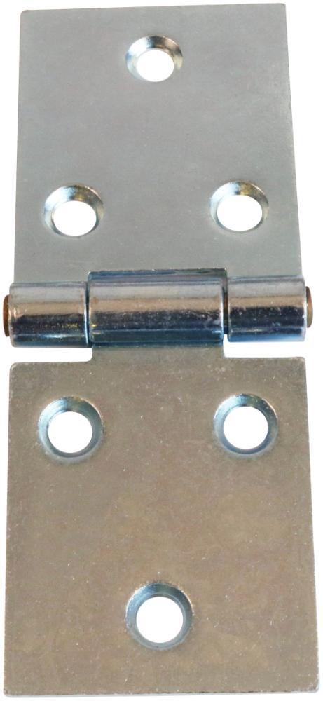 Bladhængsel 50x125 mm 2 stk. med skruer med skarpe hjørner og elforzinket blå