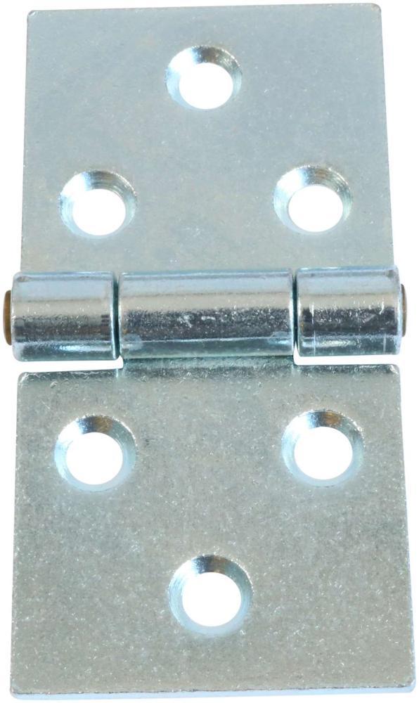 Bladhængsel 100 mm med skarpe hjørner og elforzinket blå