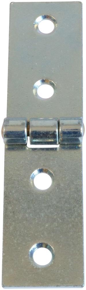 Bladhængsel 25x100 mm med skarpe hjørner og elforzinket blå
