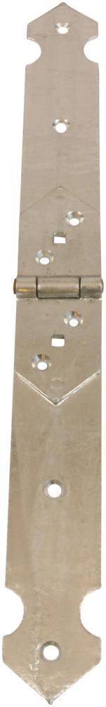 Bladhængsel 50x465 mm med skarpe hjørner og varmforzinket