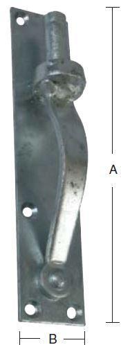 Pladestabel 16 mm tap og varmforzinket