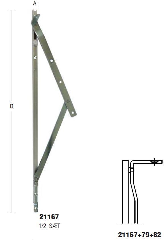 Topstyret beslag med dobbelt friktion