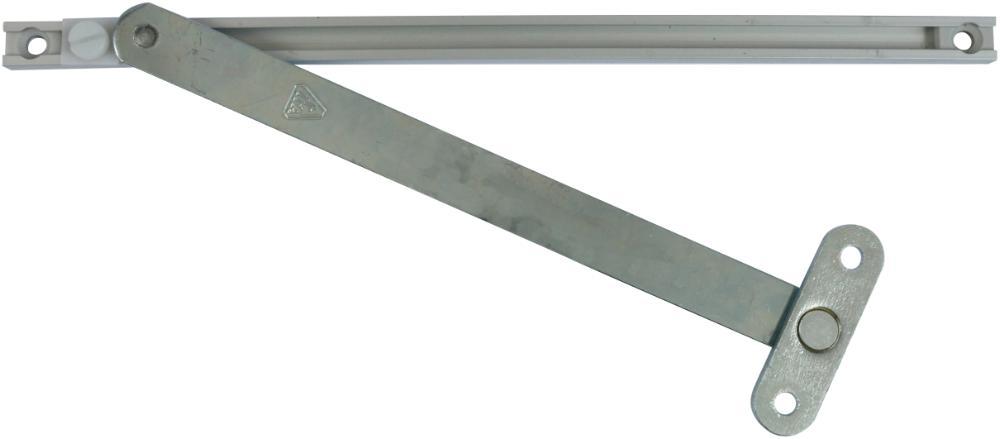 Vinduesbremse monteres i 12 x 7 mm not i karm og 17,3 x 3 mm not i ramme.