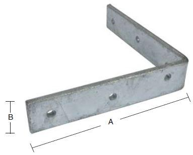 Vinkeljern 150 mm og varmforzinket