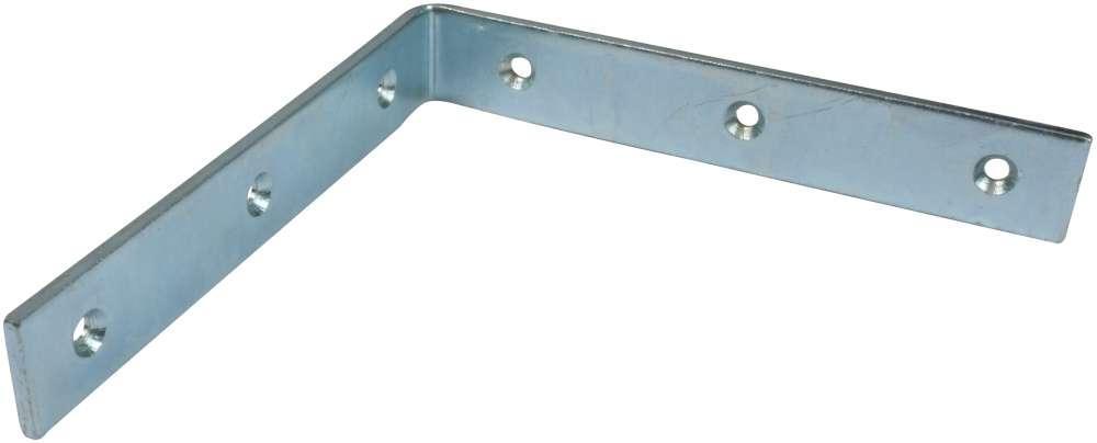 Vinkeljern 150 mm 2 stk. med skruer og elforzinket blå