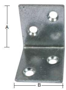 Vinkeljern 65 mm og varmforzinket