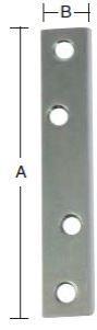 Ligejern 80 mm 4 stk. med skruer og elforzinket blå