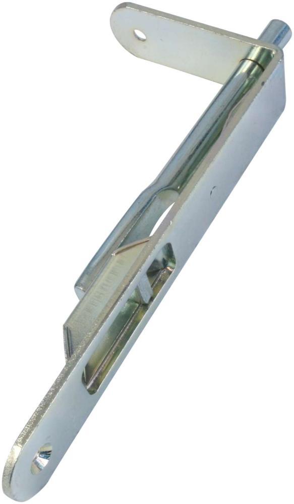 Kantrigle 160 mm med runde hjørner og elforzinket blå