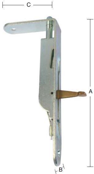 Paskvilkantrigle 160 mm med runde hjørner og elforzinket blå