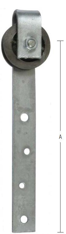 Skydedørsrulle 75 mm og varmforzinket