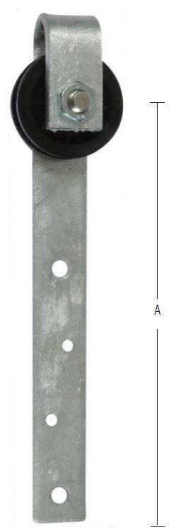 Plast skydedørsrulle 75 mm og varmforzinket