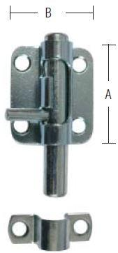 Skudrigle 35 mm med skruer og elforzinket blå