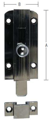 Messing skudrigle 60 mm og forcromet