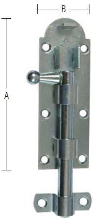 Skudrigle 130 mm med skruer og elforzinket blå