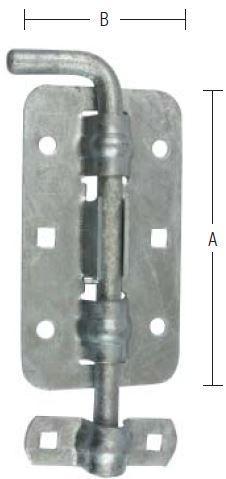 Skudrigle 200 mm rigle og varmforzinket