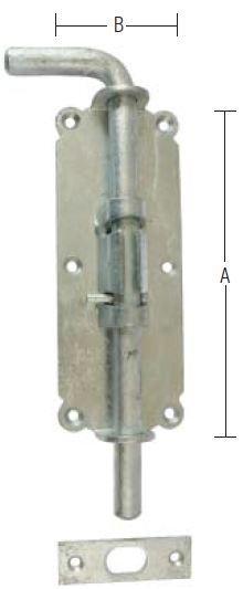 Skudrigle 250 mm rigle og varmforzinket
