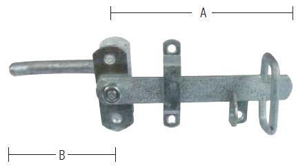 Stalddørgreb 22-34 mm dør og varmforzinket