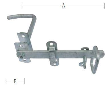 Stalddørgreb 80-110mm dør og varmforzinket