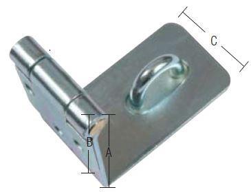 Overfald-vinkelbukket med skruer og elforzinket blå