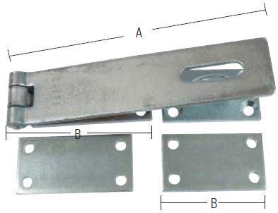 Hærdet overfald 180x40x4 mm og elforzinket blå