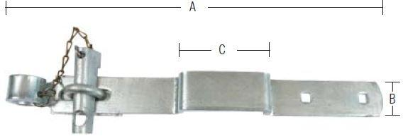 Portoverfald 410 mm og varmforzinket