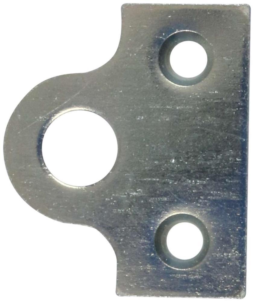 Hængelåseblik 42x50mm med skruer og elforzinket blå