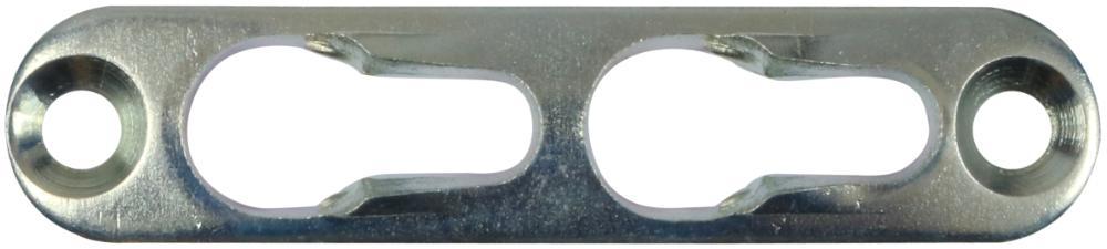 Hægtebeslag 65 mm 4 stk. med skruer og elforzinket blå