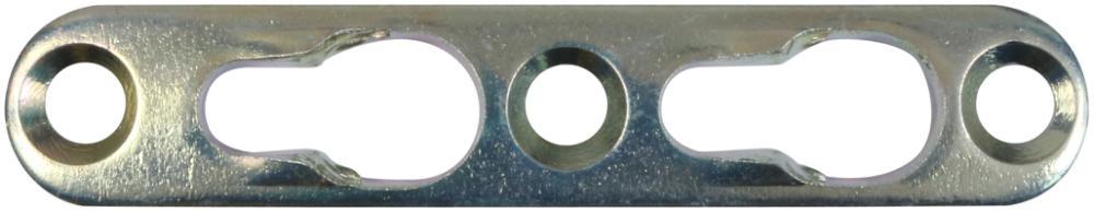 Hægtebeslag 75 mm 4 stk. med skruer og elforzinket blå