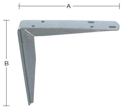 Hyldeknægt 250x300 mm og varmforzinket