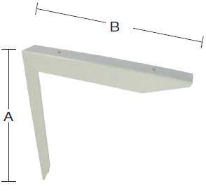 Bordbæring 300x300 mm og lakeret hvid