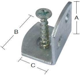 Stakit holder til læhegn med skruer 4 stk. - elforzinket gul