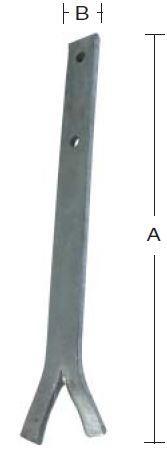 Løsholtjern 400x25x5 mm og varmforzinket
