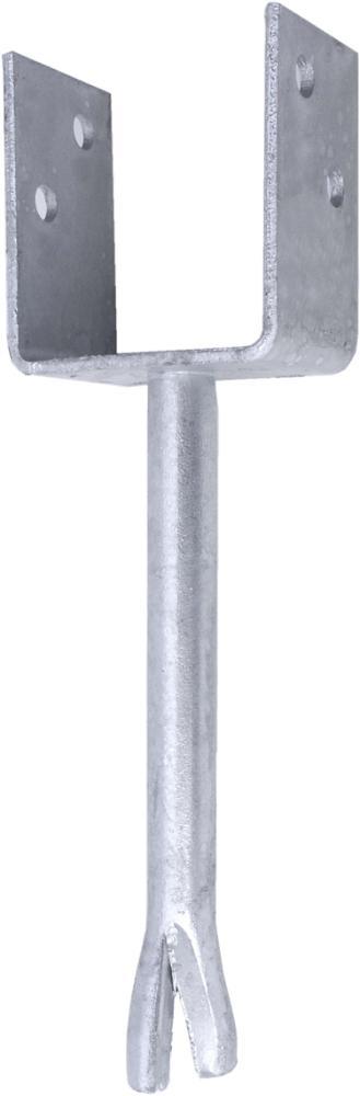 Stolpebærer 75 mm U-profil 75x90 mm, pind 200 mm og varmforzinket