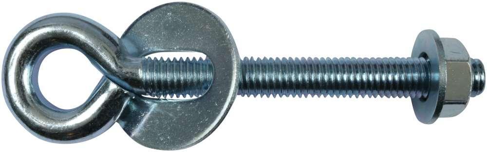 Øjebolt 115 mm og elforzinket blå