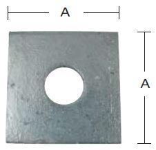 Spændeskive 75x6x18 mm og varmforzinket