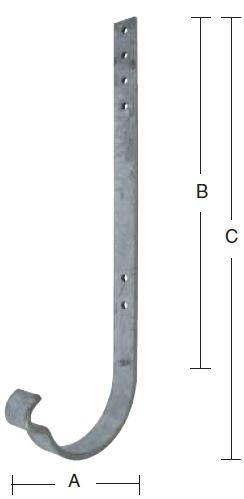 Rendejern 100 mm lang og varmforzinket