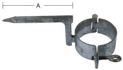 Hængselstift 76 mm mur - varmforzinket